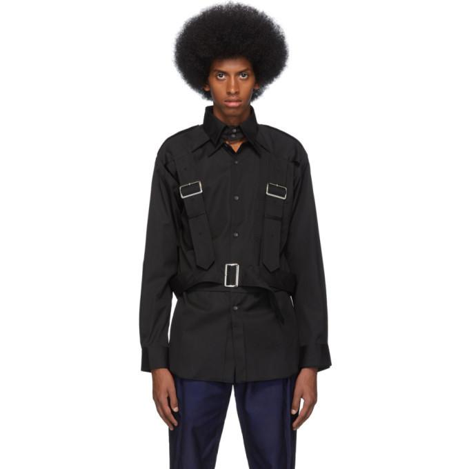 Photo: Comme des Garcons Shirt Black Harness Shirt