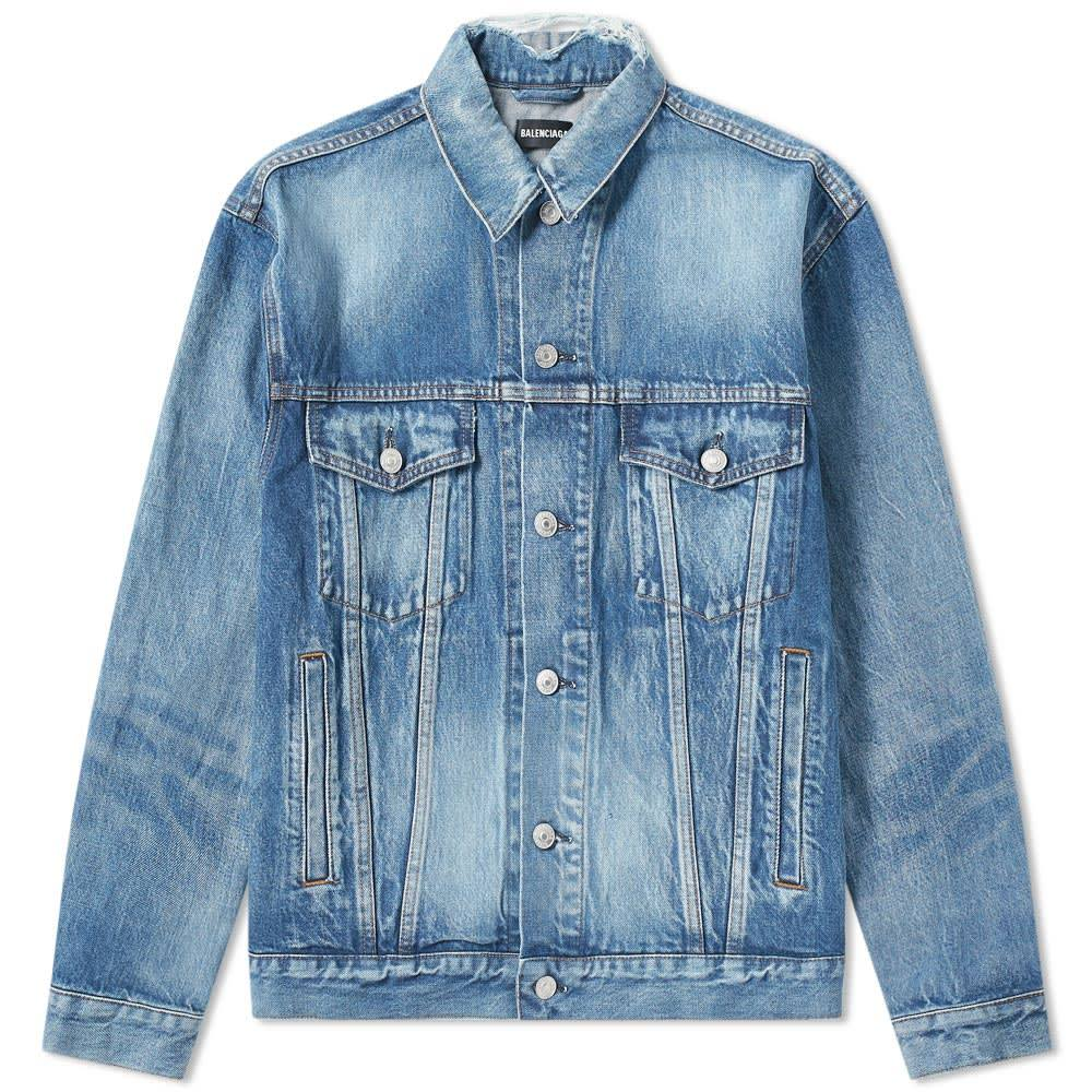 Photo: Balenciaga Back Logo Denim Jacket