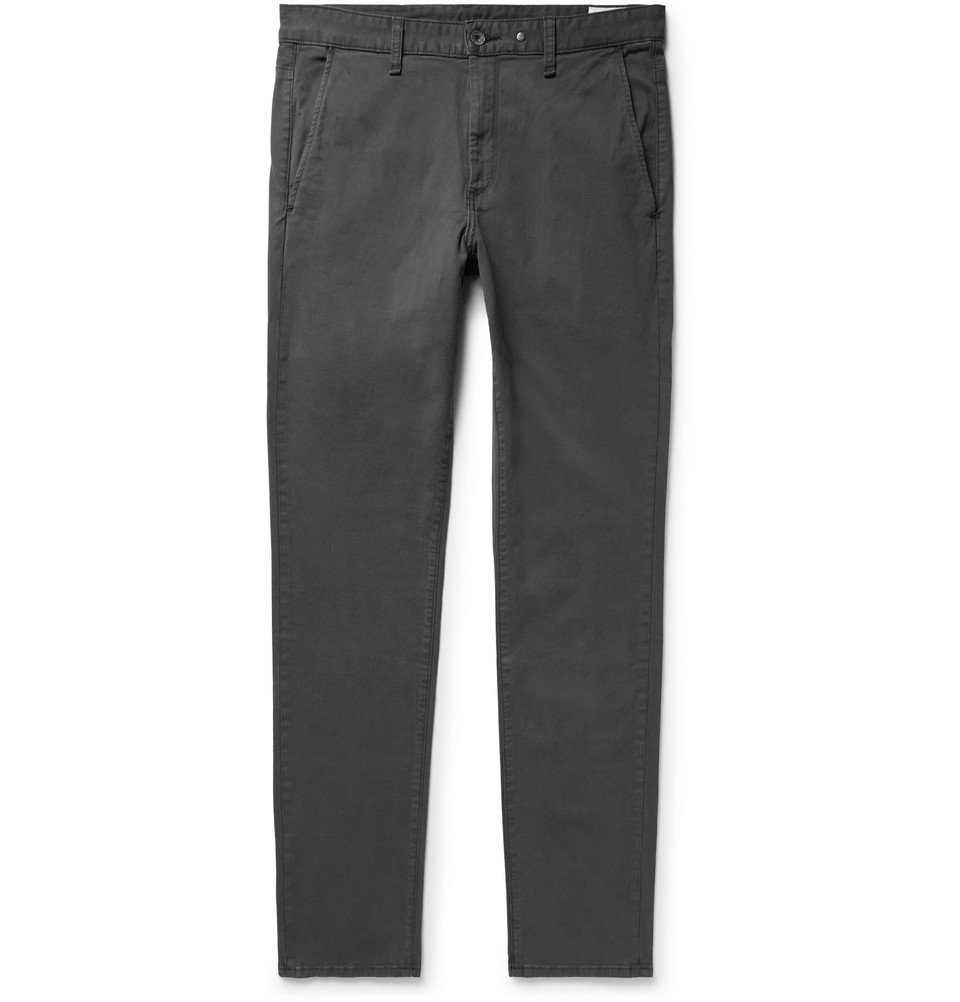 Photo: rag & bone - Fit 2 Slim-Fit Garment-Dyed Cotton-Twill Chinos - Charcoal