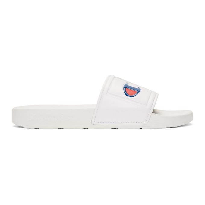 Photo: Champion Reverse Weave White IPO Jock Sandals