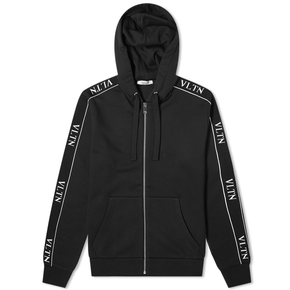 Photo: Valentino Zip Taped Logo Hoody