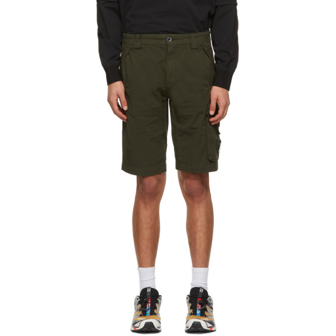 Photo: C.P. Company Green Bermuda Cargo Shorts