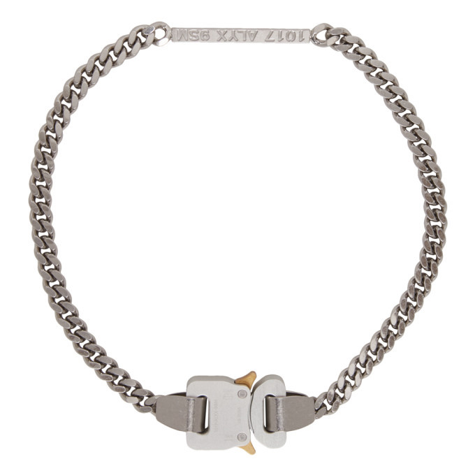 Photo: 1017 ALYX 9SM Silver Buckle ID Necklace