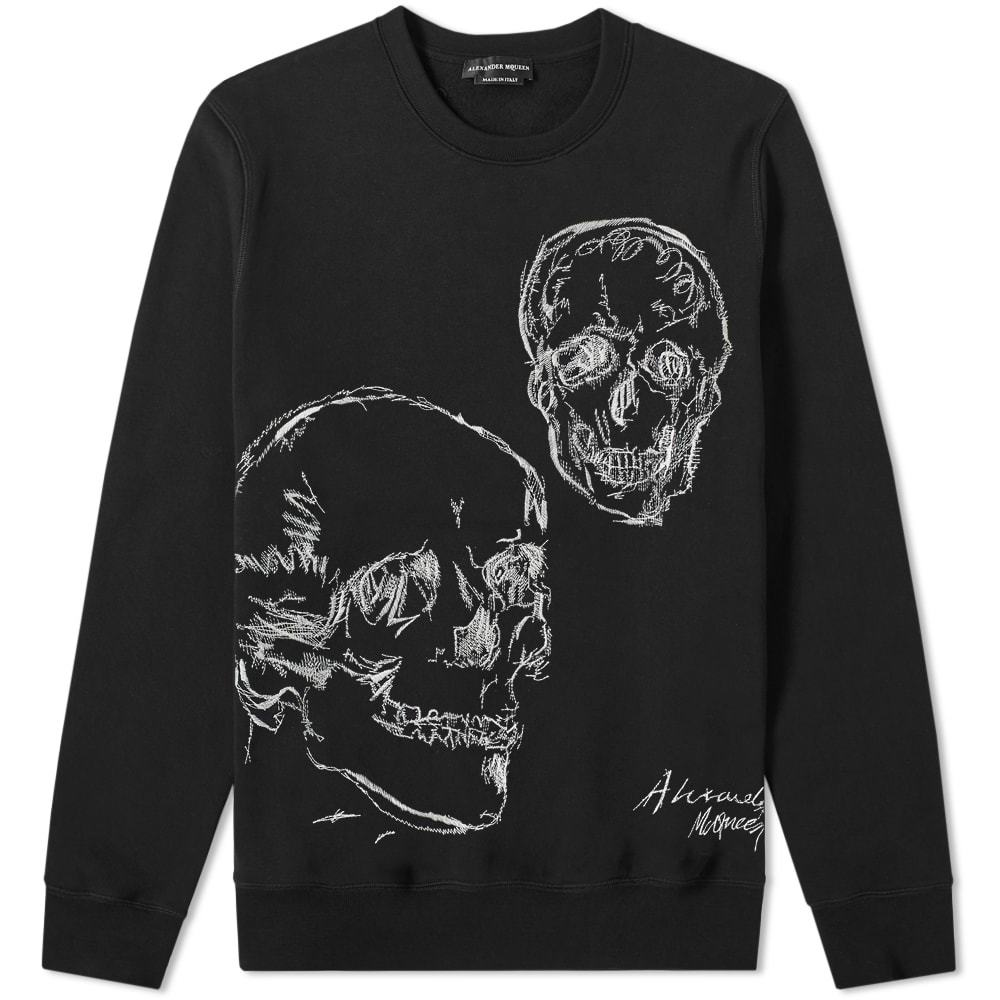 Photo: Alexander McQueen Double Skull Embroidered Crew Sweat