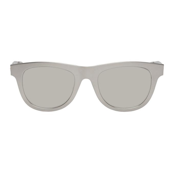 Photo: Bottega Veneta Silver Aluminum Sunglasses