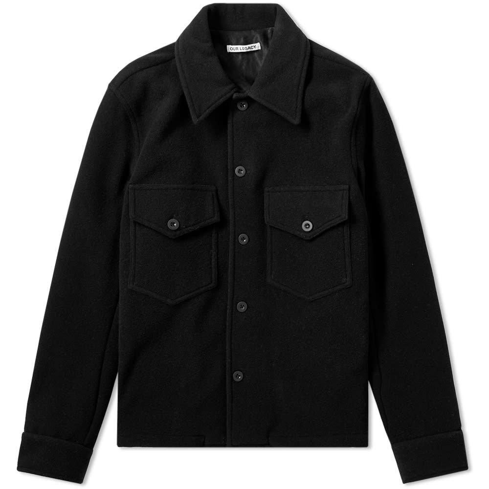 Photo: Our Legacy Loan Melton Wool Jacket Black Melton