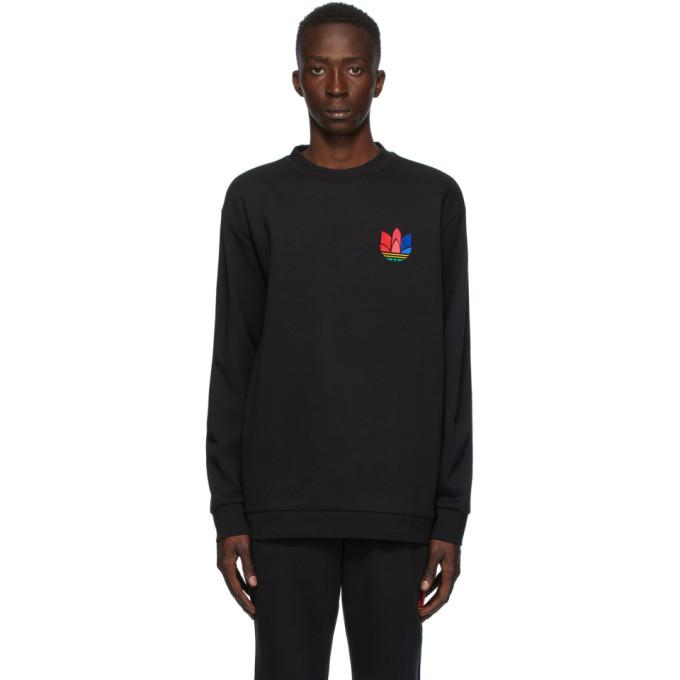 Photo: adidas Originals Black 3D Trefoil Sweatshirt