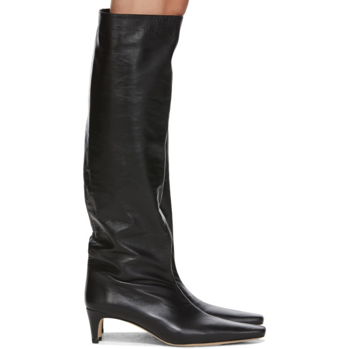 Photo: Staud Black Leather Wally Boots