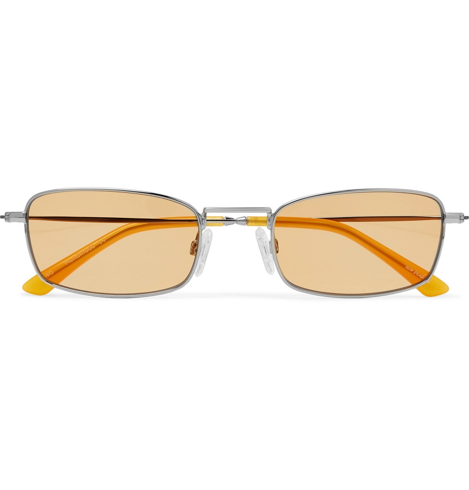Photo: Sun Buddies - E-40 Rectangle-Frame Stainless Steel and Acetate Sunglasses - Silver