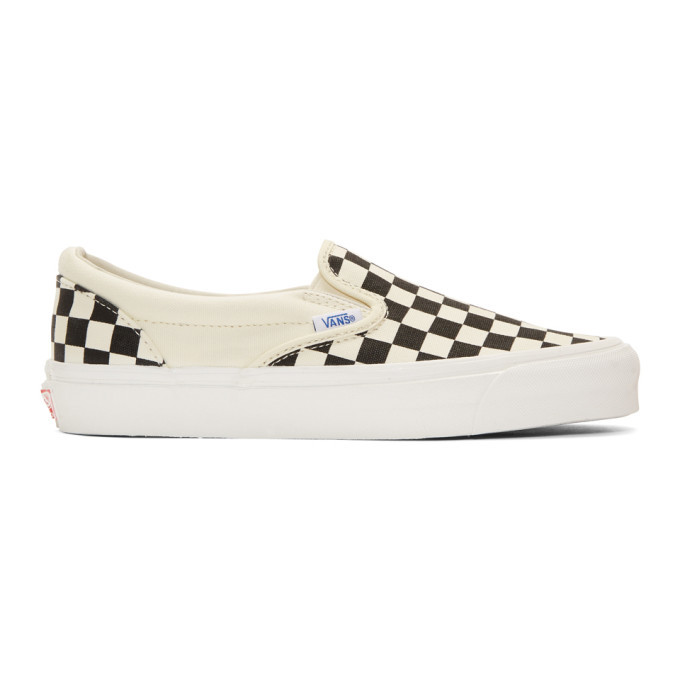 Photo: Vans Black and White OG Checkerboard Classic Slip-On Sneakers