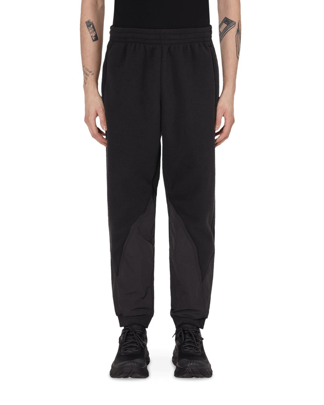 Adidas Originals Big Trefoil Polar Fleece Mix Track Pants Black