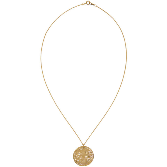 Alighieri Gold Il Leone Coin Necklace