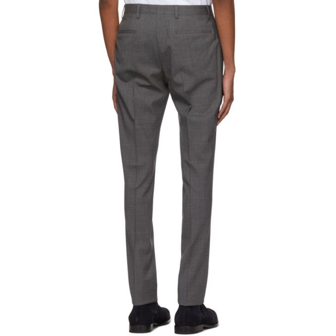 PS by Paul Smith Grey Wool Mid Fit Trousers