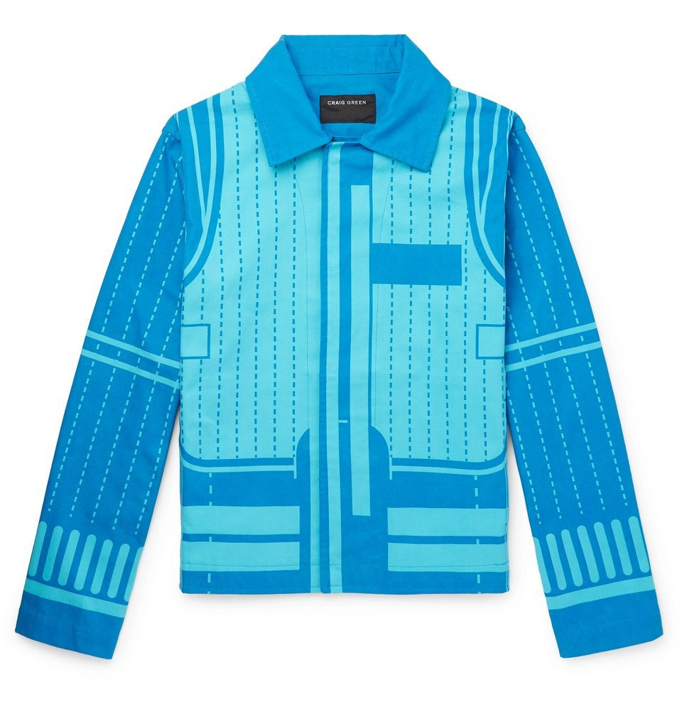 Photo: Craig Green - Printed Cotton-Canvas Blouson Jacket - Blue