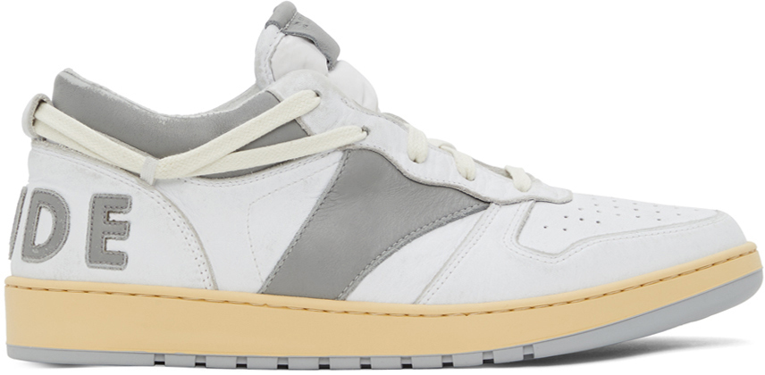 Photo: Rhude White & Grey Rhecess Low Sneakers