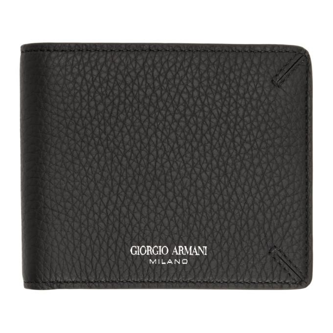 Giorgio Armani Black La Prima Bifold Wallet