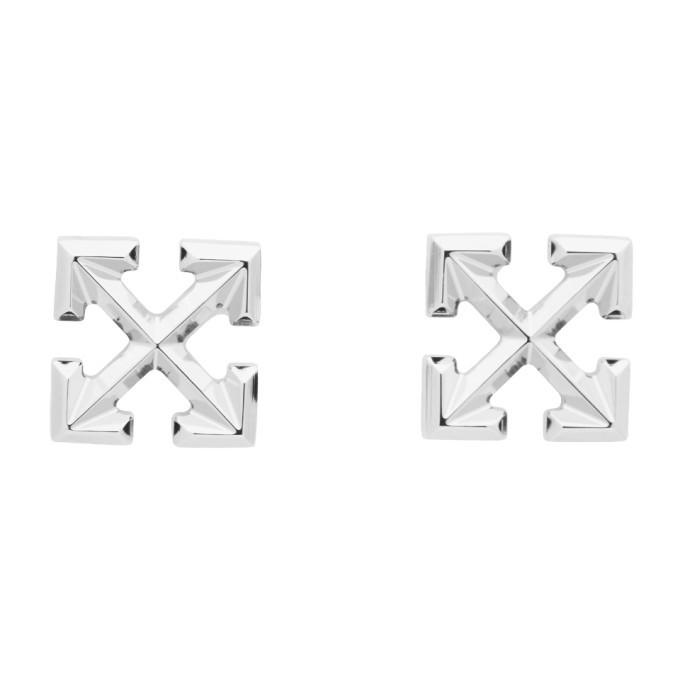 Photo: Off-White Silver Mini Arrow Earrings