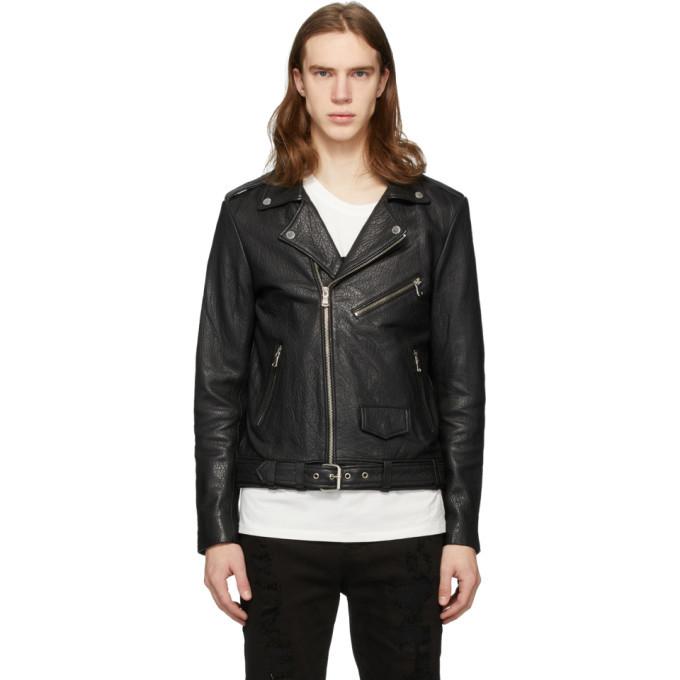 Photo: Stolen Girlfriends Club SSENSE Exclusive Black Glitter Logo Leather Jacket