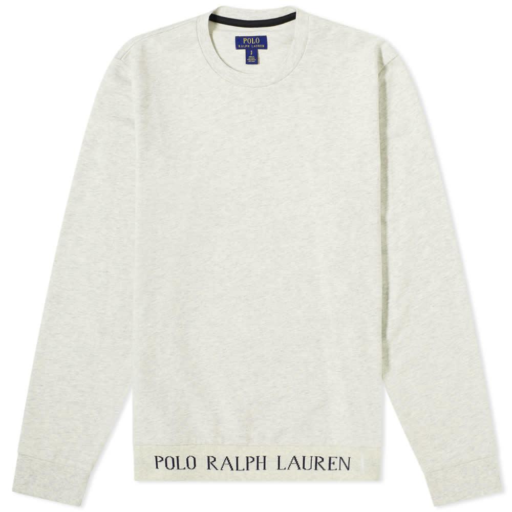 Photo: Polo Ralph Lauren Logo Rib Sleepwear Crew Sweat