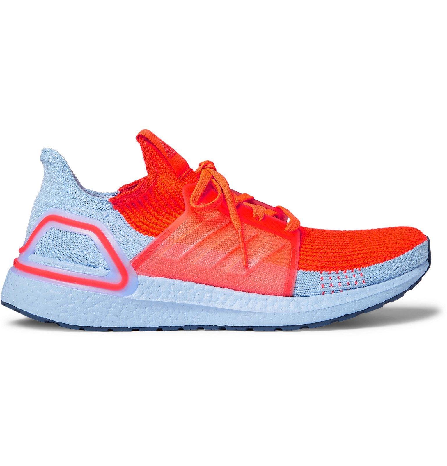 Photo: Adidas Sport - UltraBOOST 19 Rubber-Trimmed Primeknit Running Sneakers - Orange