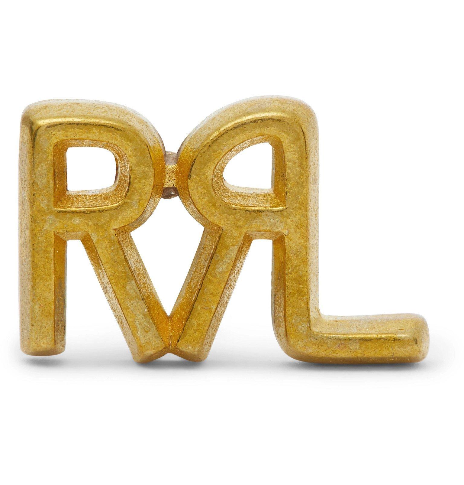 RRL - Logo-Detailed Gold-Tone Pin - Gold
