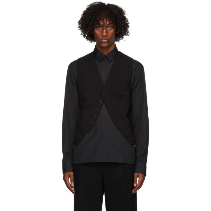 Photo: Ann Demeulemeester Black Wool Waistcoat
