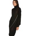 Sacai Black Wool Zip Dress