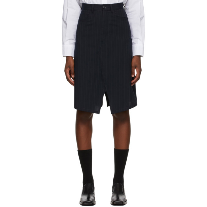 Photo: MM6 Maison Margiela Black Pinstripe Suit Skirt