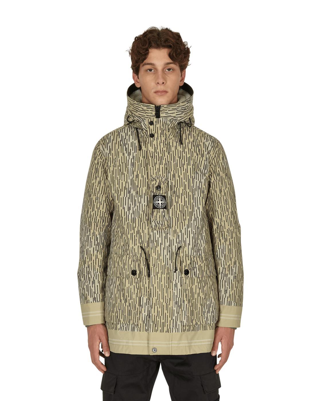 Photo: Stone Island Naslan Light Watro Rain Camo Reflective Parka Jacket Natural Beige