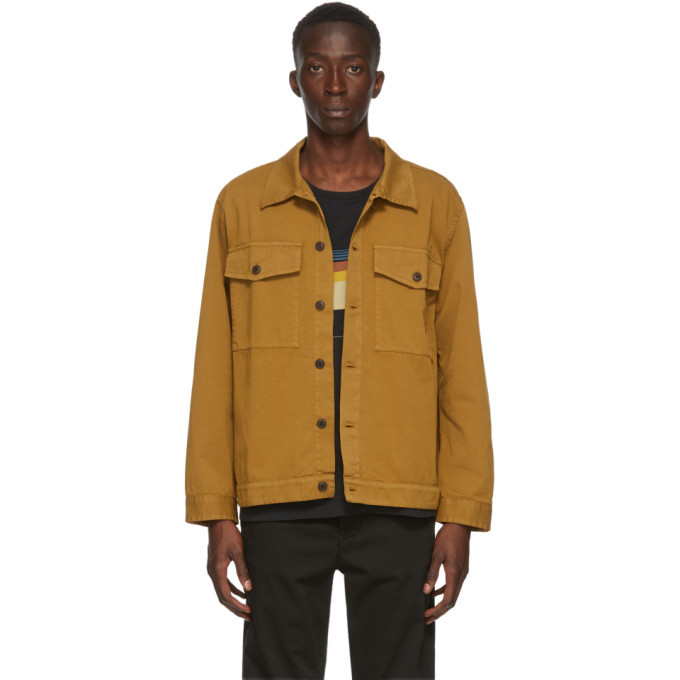 Photo: Nudie Jeans Tan Colin Utility Overshirt