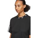 adidas Originals Black Trefoil Collar T-Shirt