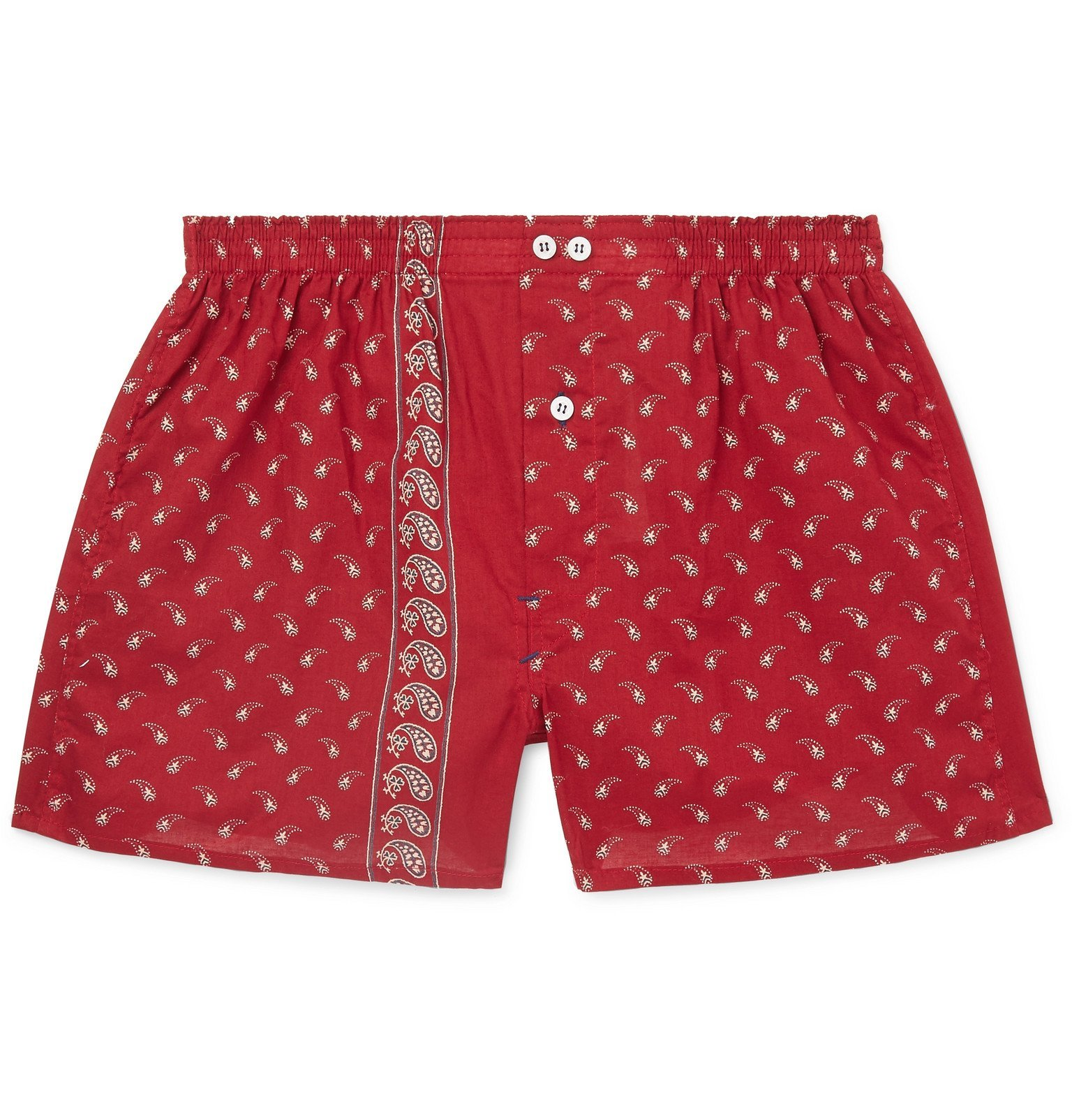 Photo: Anonymous Ism - Paisley-Print Cotton Boxer Shorts - Red
