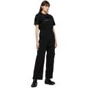 MCQ Black Denim Jumpsuit