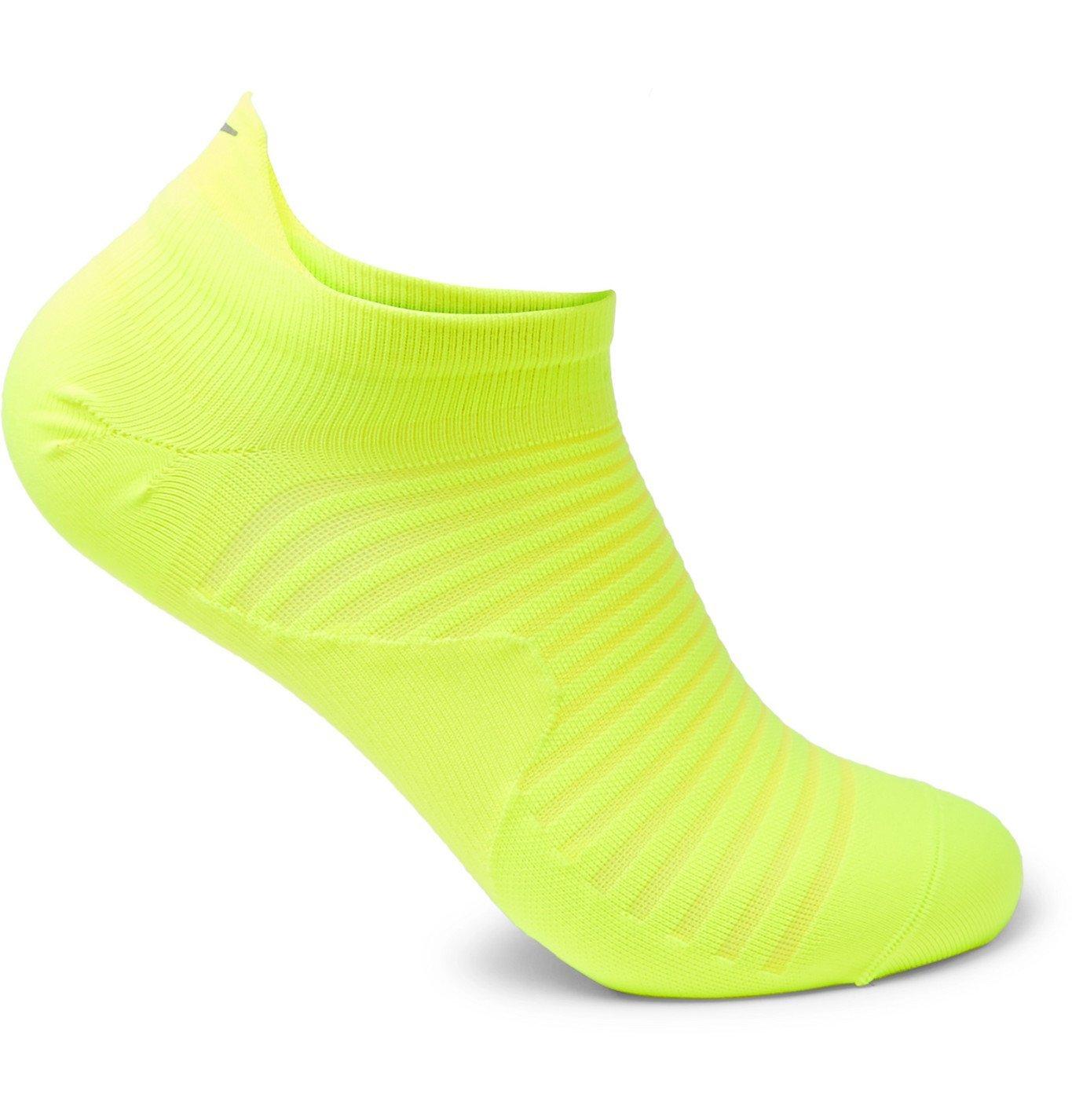 Nike Running - Spark Lightweight Stretch-Knit No-Show Socks - Yellow