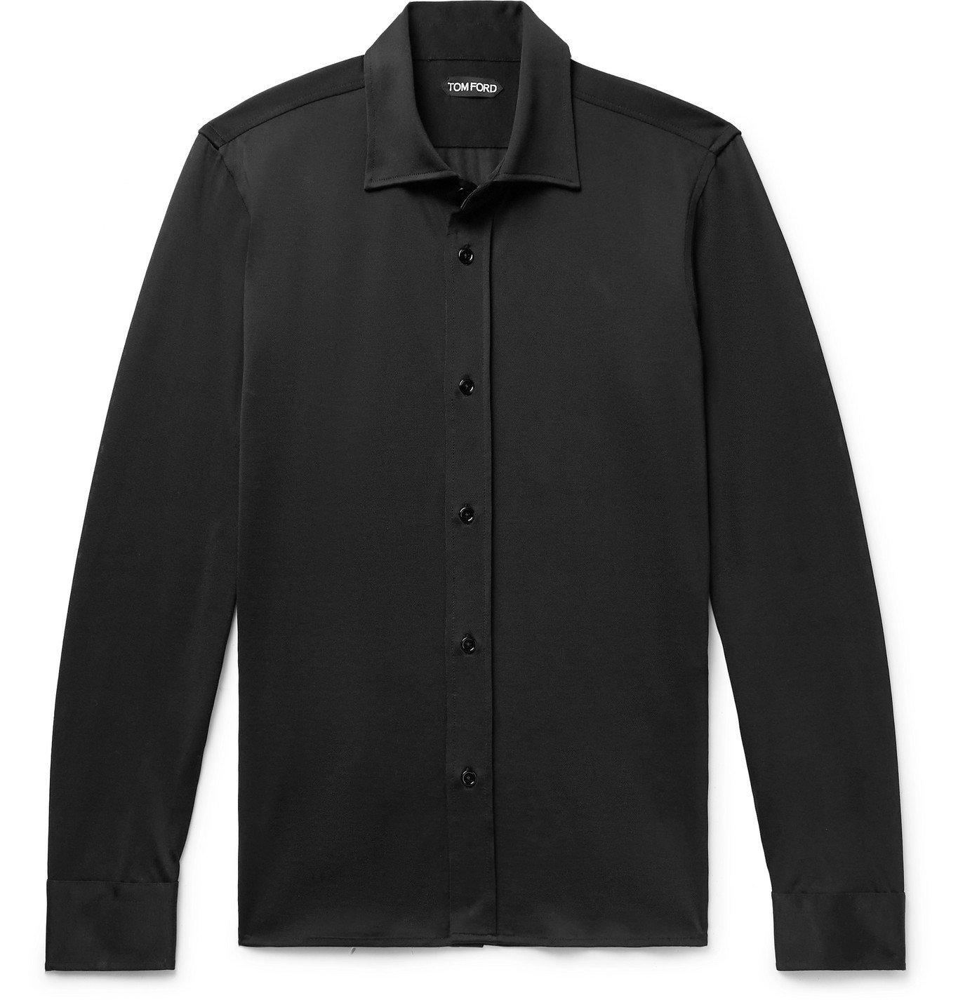 Photo: TOM FORD - Jersey Shirt - Black