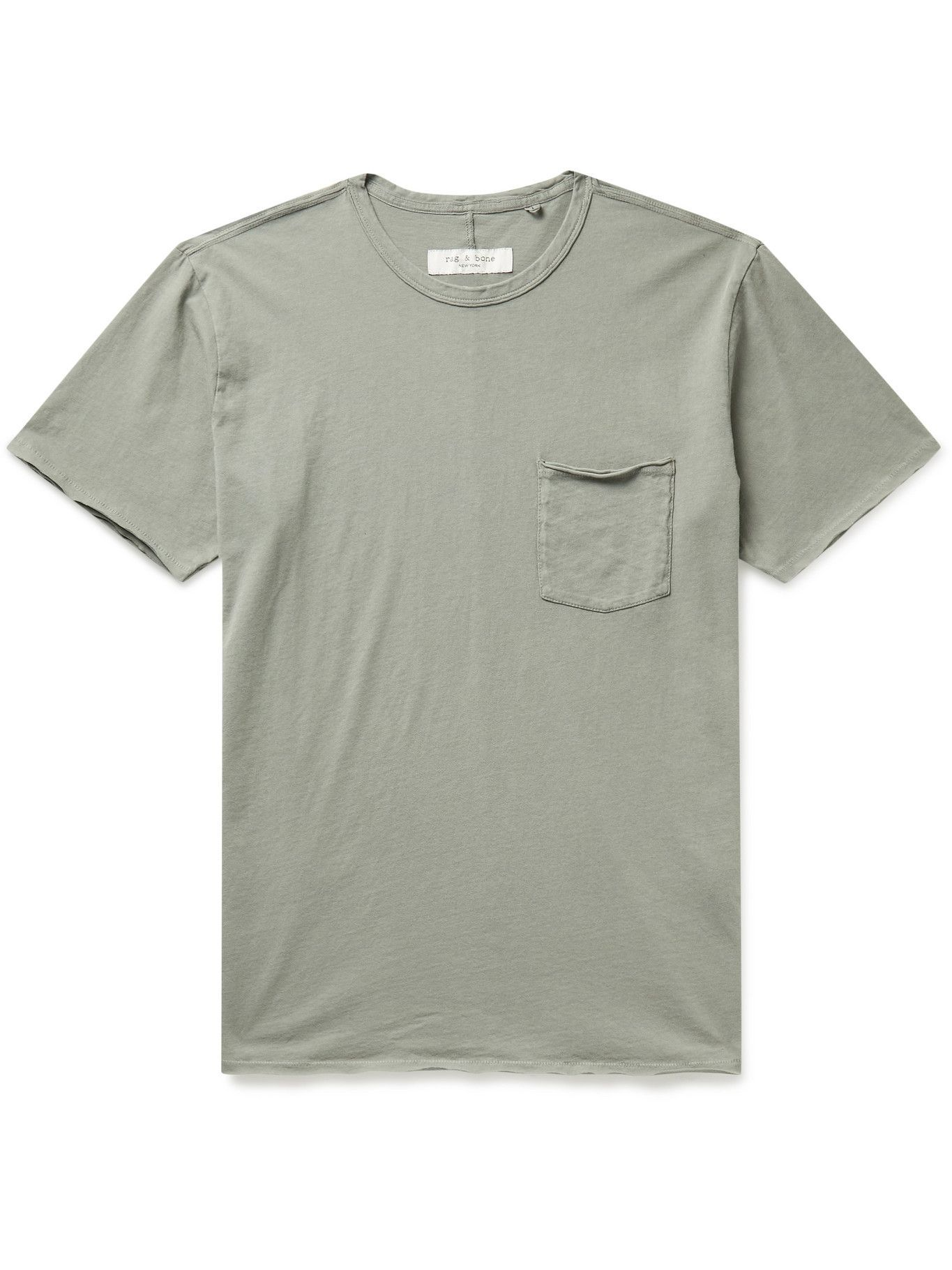Photo: RAG & BONE - Miles Organic Cotton-Jersey T-Shirt - Green