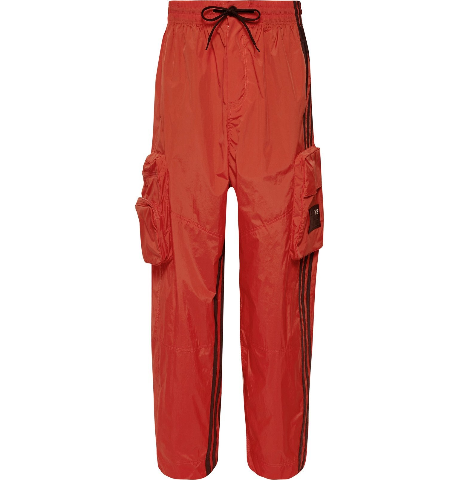 Photo: Y-3 - Logo-Appliquéd Striped Shell Track Pants - Orange