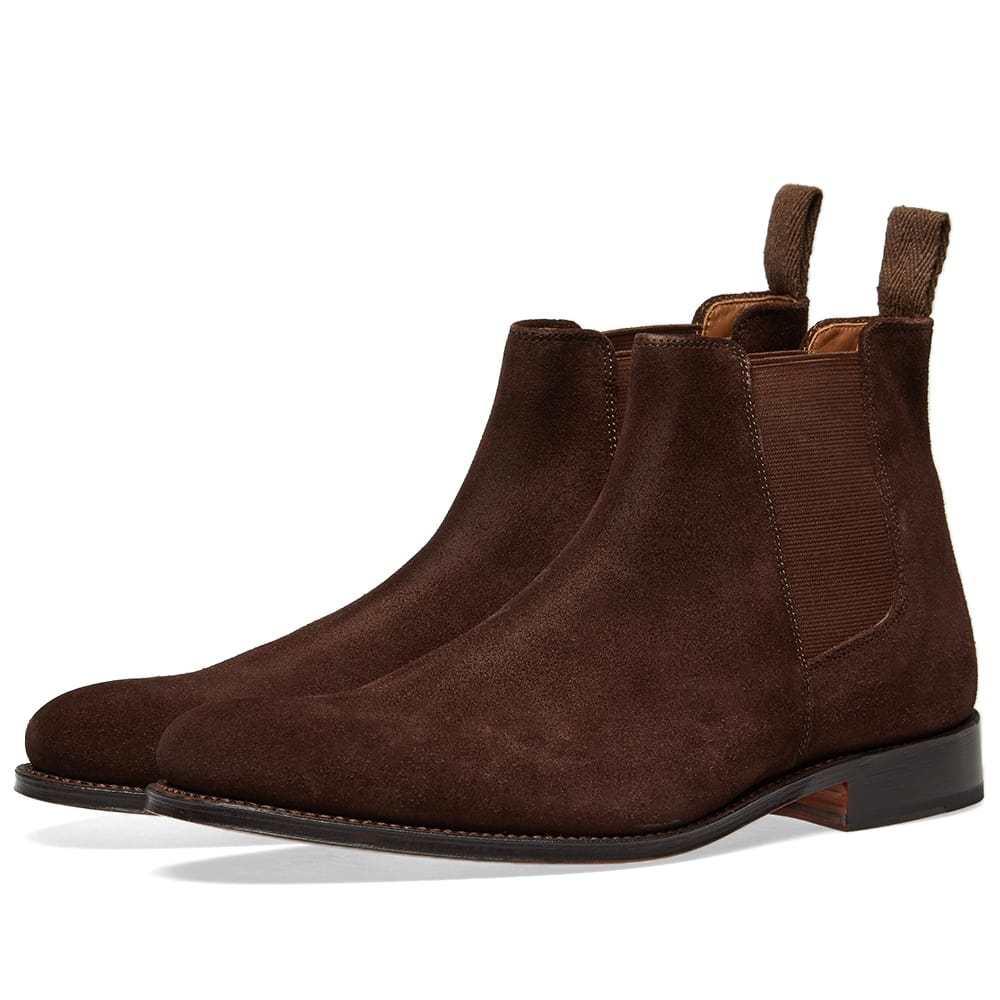 Photo: Grenson Declan Chelsea Boot Chocolate Suede