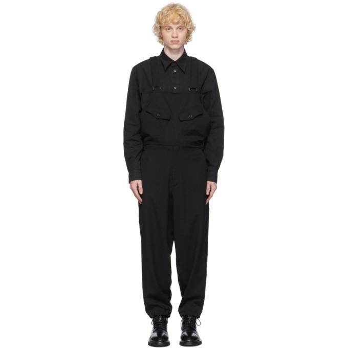 Photo: Yohji Yamamoto Black Wool Overalls
