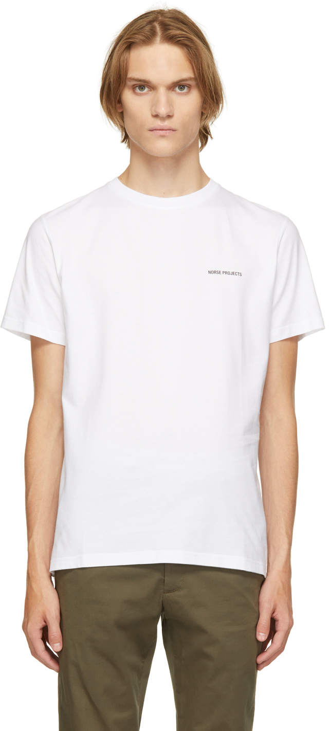 Photo: Norse Projects White Niels Core Logo T-Shirt