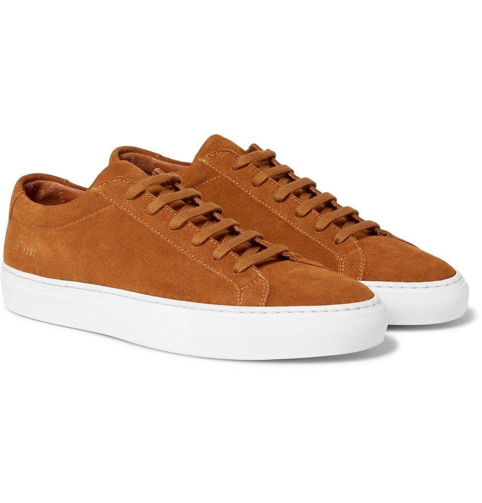 Common Projects - Achilles Low Suede Sneakers - Men - Tan
