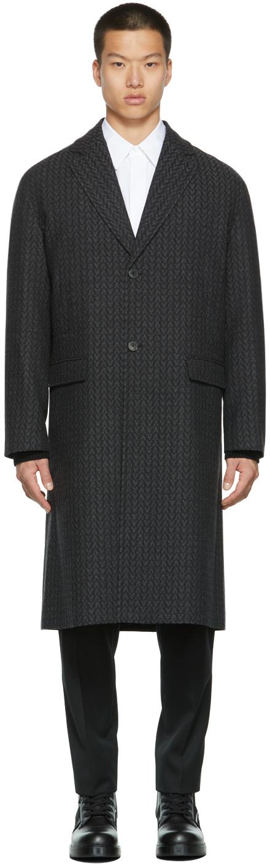 Photo: Valentino Grey Tweed Logo Coat