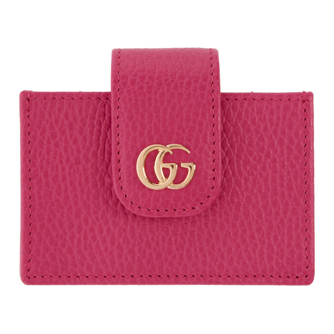 gucci pink small marmont card holder - Pink Card Holder