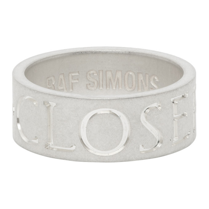 Photo: Raf Simons Silver Archive Redux Engraved Closer Ring