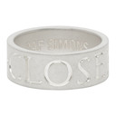 Raf Simons Silver Archive Redux Engraved Closer Ring