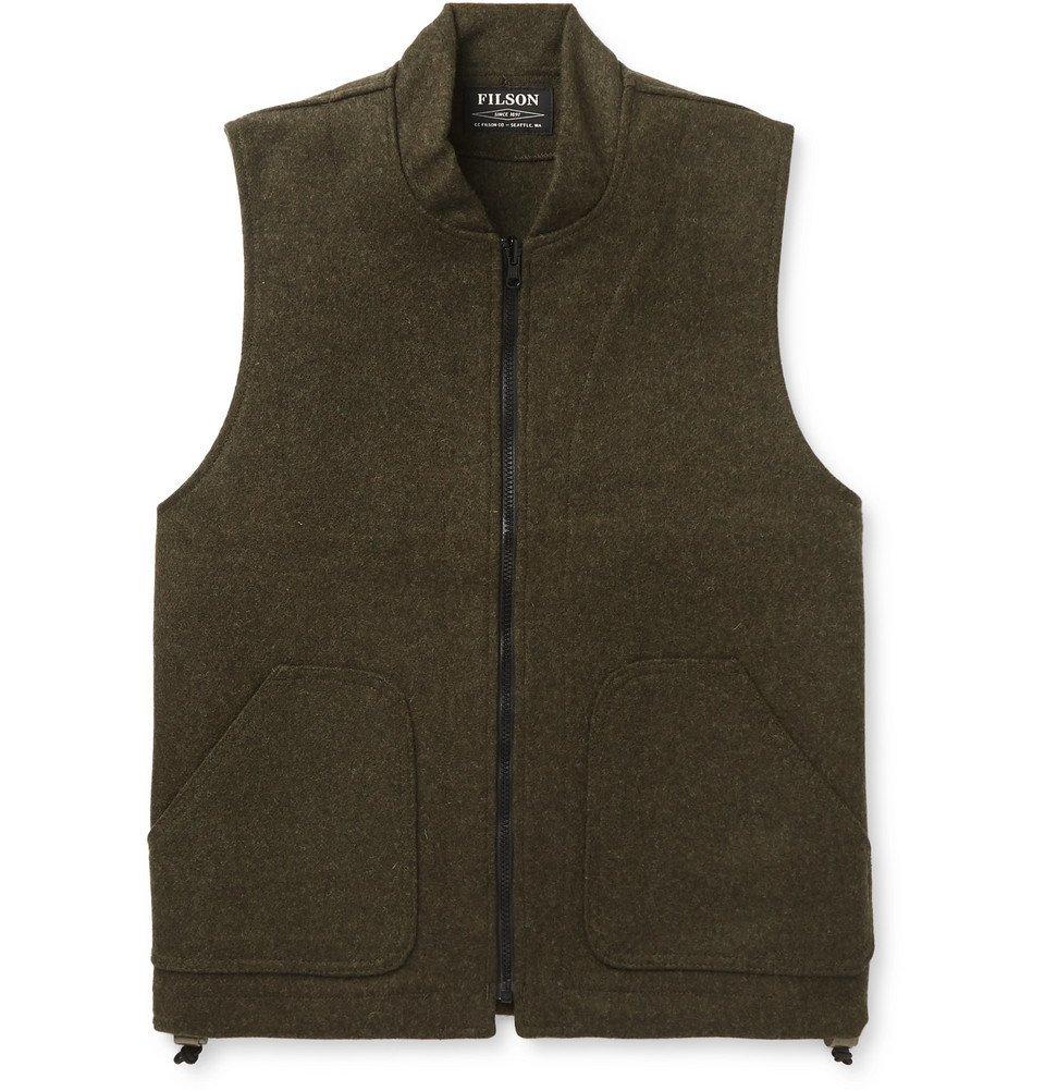 Filson - Mackinaw Virgin Wool Gilet - Men - Forest green