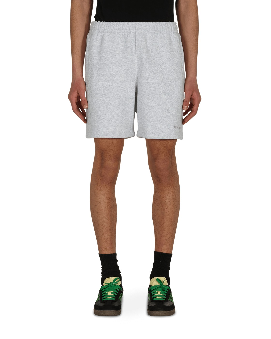 Photo: Adidas Originals Pharrell Williams Basics Sweatshorts Light Grey Heather