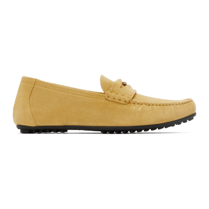 Photo: Versace Yellow Suede Loafers