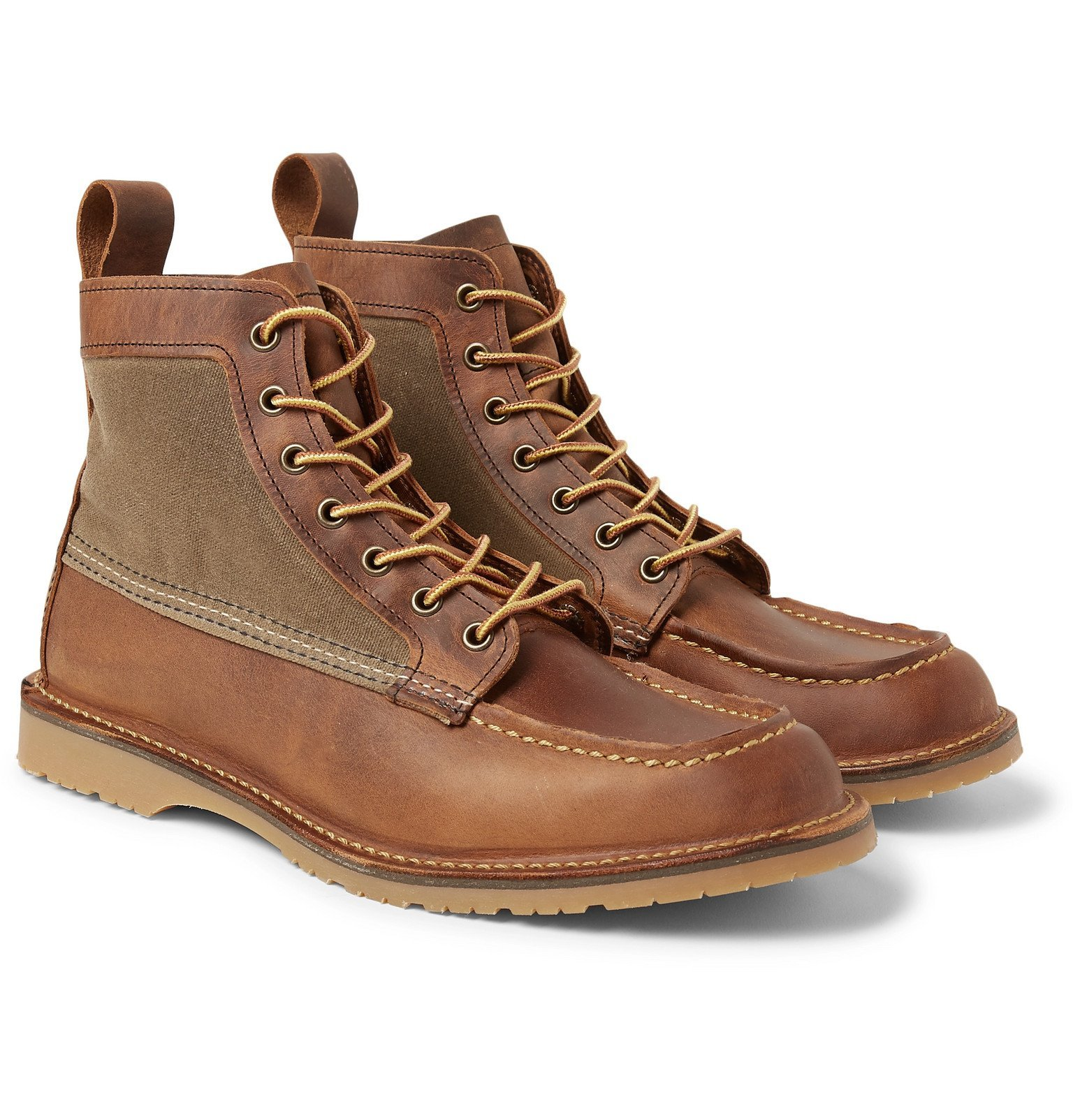 Photo: Red Wing Shoes - Wacouta Leather and Waxed-Cotton Boots - Brown