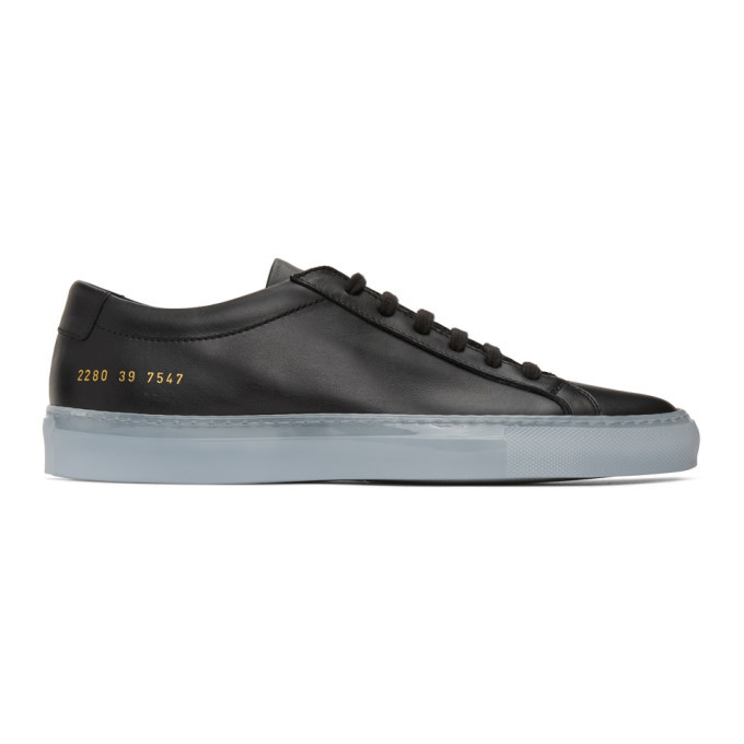 Photo: Common Projects Black Ice Sole Achilles Low Sneakers